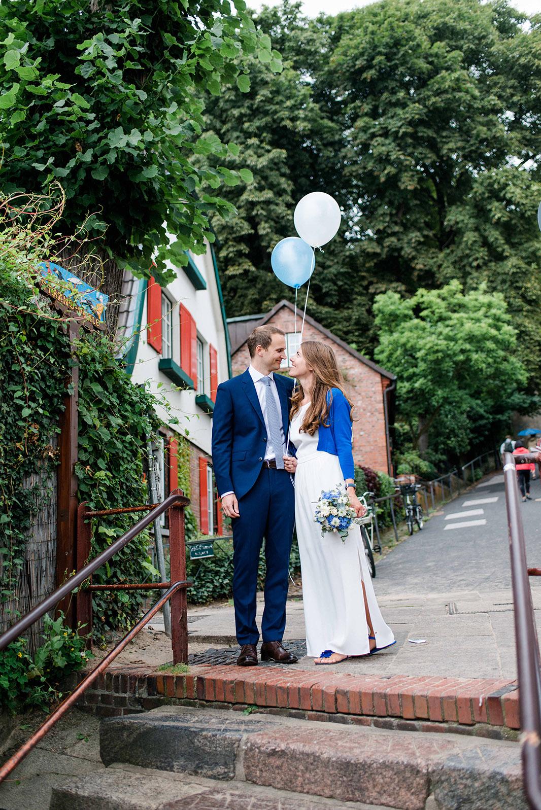 wundervolle Hochzeit am Elbstrand