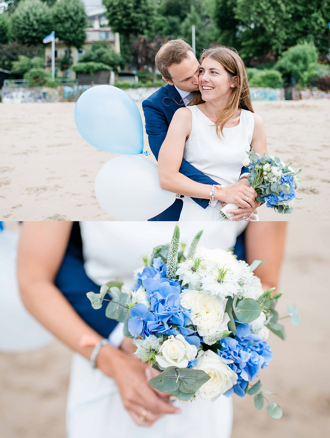 Kathleen Welker Photography intime Hochzeit am Elbstrand Zum Baecker
